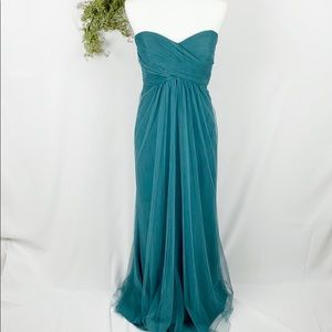 Jenny Yoo Adeline strapless chiffon gown 10 🌿